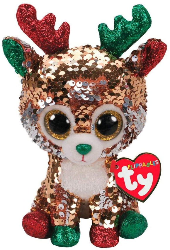 Ty TEGAN the Reindeer Sequin Plush Toy 11