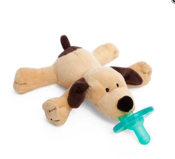 Wubbanub Pacifier holder Brown Puppy