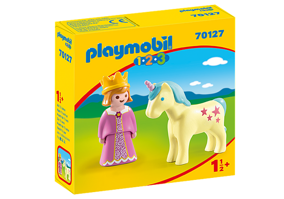 Playmobil 123, 70127 Princess with Unicorn