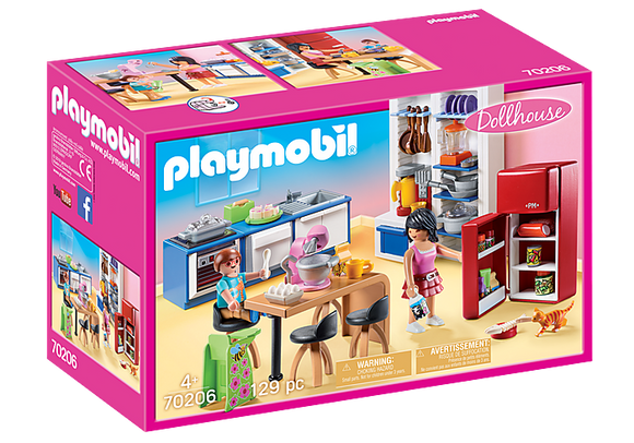 Playmobil 70206 Large Dollhouse Family Kitchen