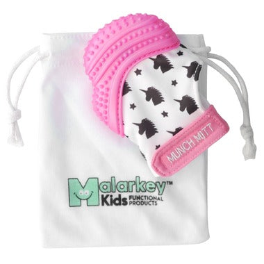 Malarkey Kids Munch Mitt Pink Shimmer Unicorn