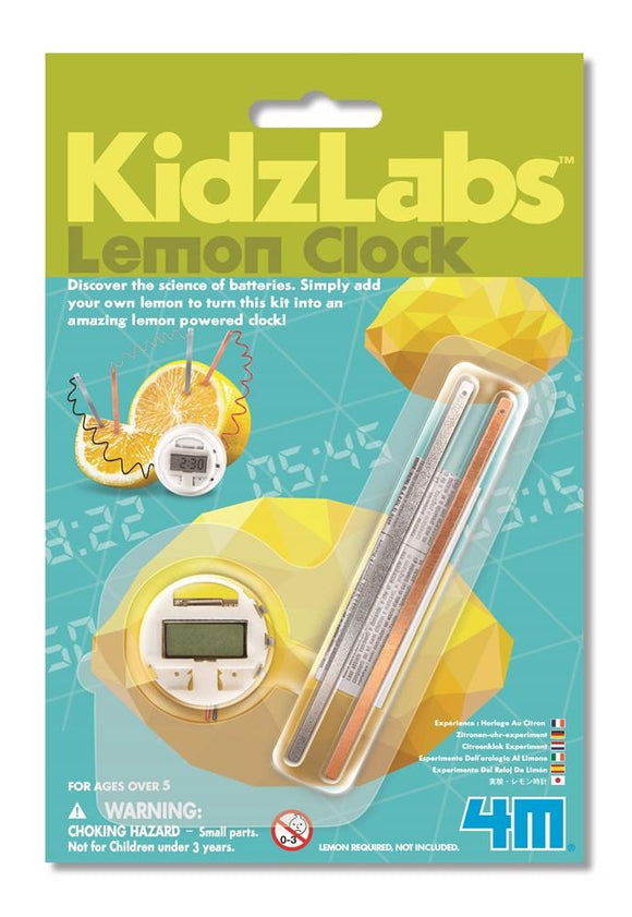 4m 3306 Kidzlabs Lemon Clock