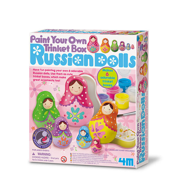 4m 4617 Paint Your Own Trinket Box Russian Dolls