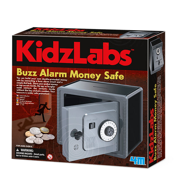 4m 3289 KidzLabs Buzz Alarm Money Safe