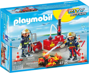 Playmobil 5397 City Action Fire Dept Firefighters with Water Pump