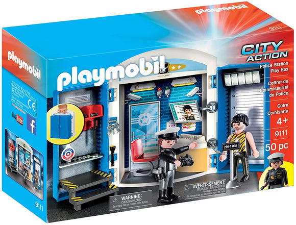Playmobil 9111 City Action Police Station Play Box