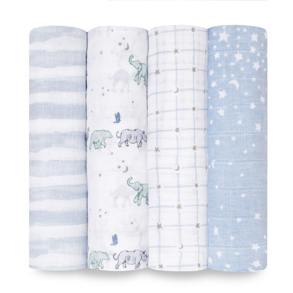 aden + anais 4pk Classic Swaddles Rising Star