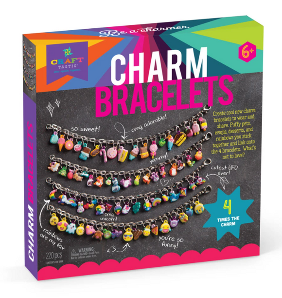 Craft-tastic DIY Puffy Charm Bracelets
