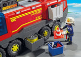 Playmobil 5337 City Action Fire Dept Airport Fire Engine with Lights and Sound