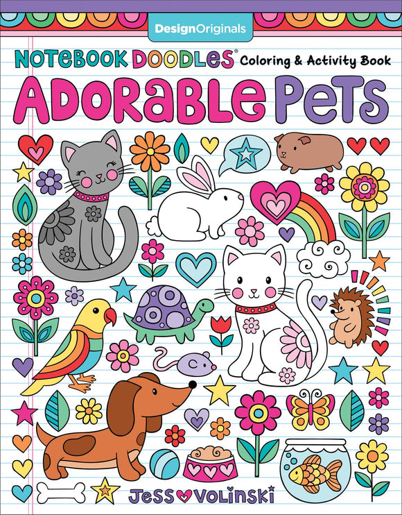 Adorable Pets Notebook Doodles Coloring & Activity Book