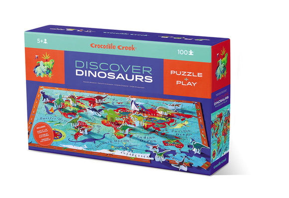 Crocodile Creek 100pc Puzzle Discover Dinosaurs