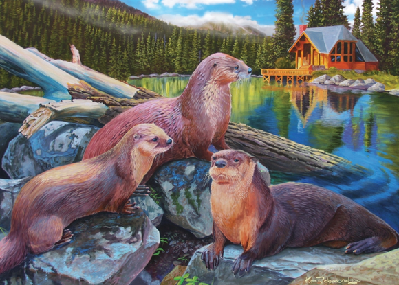 Cobble Hill 1000pc Puzzle River Otters