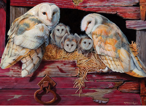 Cobble Hill 1000pc Puzzle 80052 Barn Owls