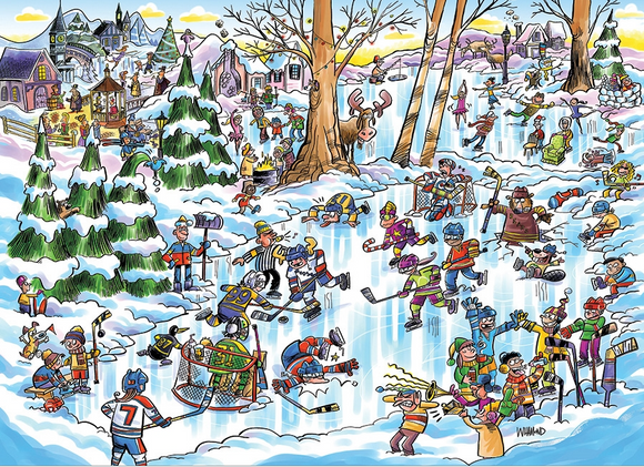Cobble Hill 1000pc Puzzle 53507 Doodle Town: Hockey Town