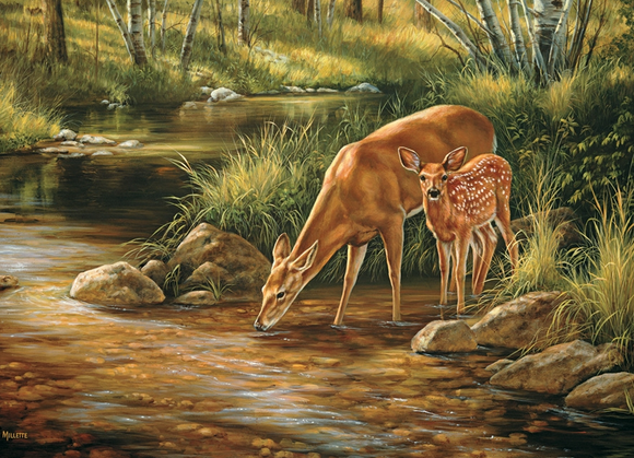Cobble Hill 350pc Family Puzzle Deer Family