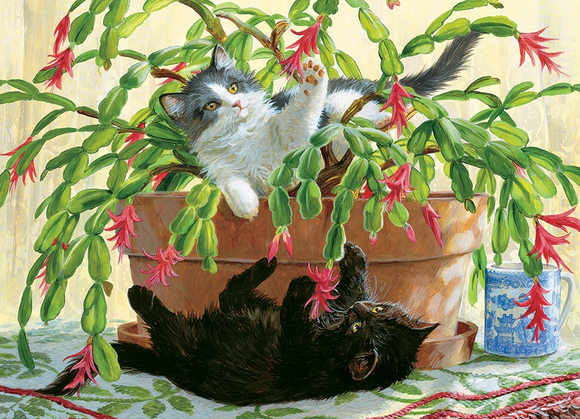 Cobble Hill 1000pc Puzzle 80031 Cactus Kitties