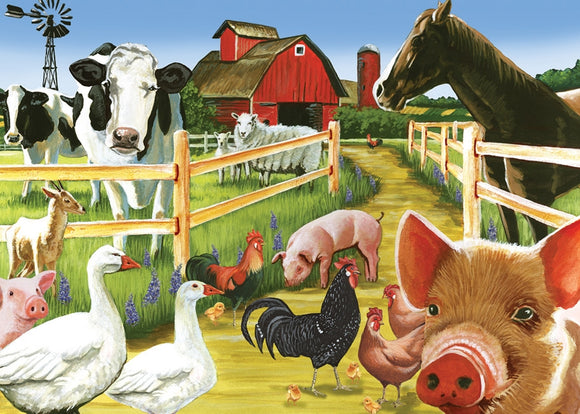 Cobble Hill 35pc Tray Puzzle Farmyard Welcome