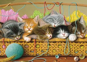 Cobble Hill 35pc Tray Puzzle Kittens in a Basket