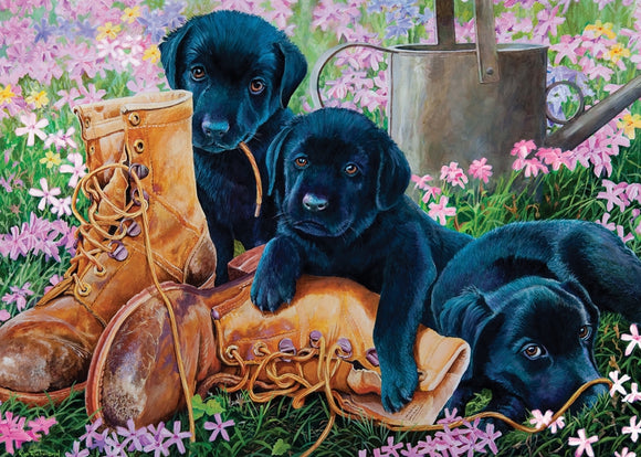 Cobble Hill 35pc Tray Puzzle Black Lab Puppies