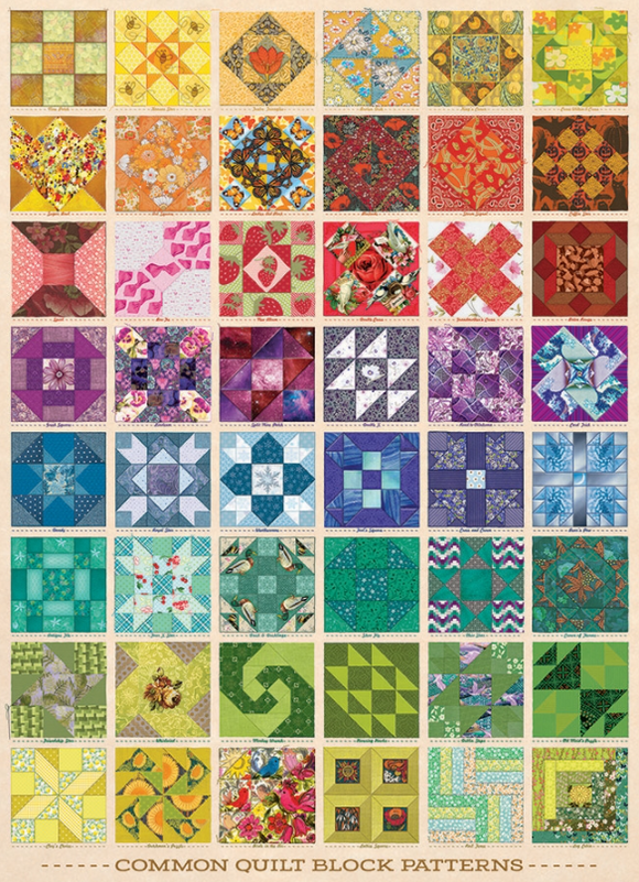 Cobble Hill 1000pc Puzzle 80237 Common Quilt Blocks
