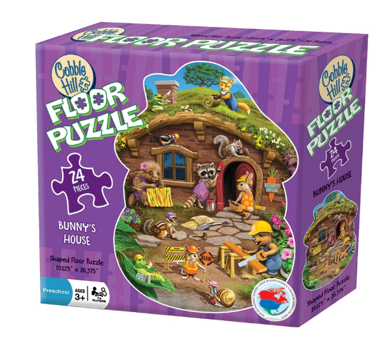 Cobble Hill 24pc Floor Puzzle Rabbit's House