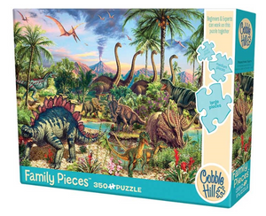 Cobble Hill 350pc Family Puzzle Prehistoric Party