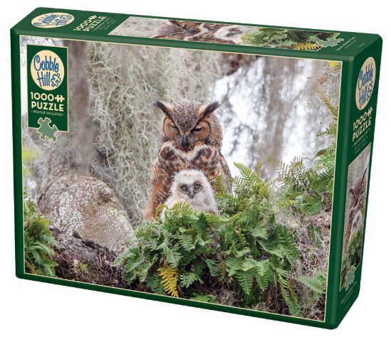 Cobble Hill 1000pc Puzzle Great Horned Owl