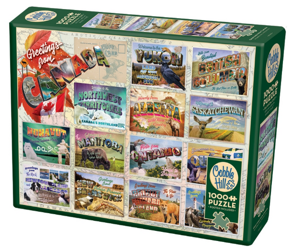 Cobble Hill 1000pc Puzzle Greetings From Canada