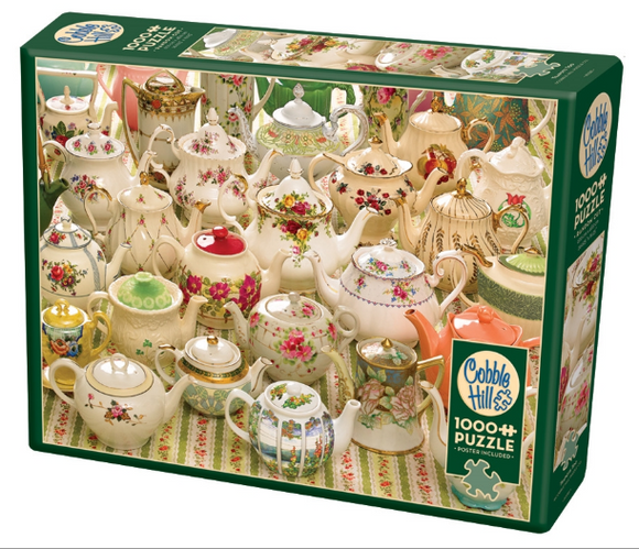 Cobble Hill 1000pc Puzzle Teapots Too