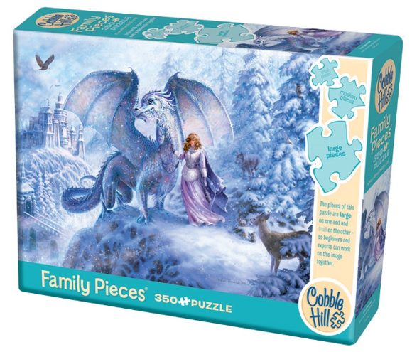 Cobble Hill 350pc Family Puzzle Ice Dragon