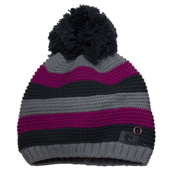 Calikids Winter Hat Striped Knit Pompom