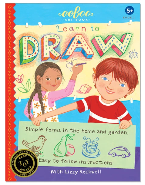 eeBoo Learn to Draw Simple Forms Art Book