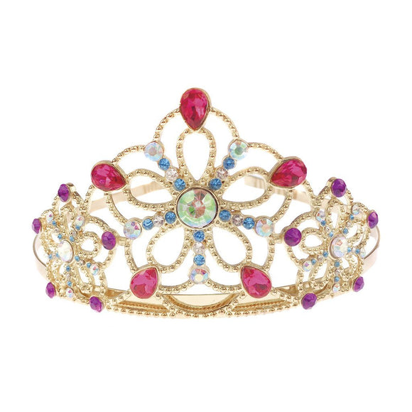 Great Pretenders Bejewelled Tiara, Gold metal