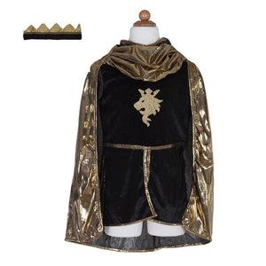 Great Pretenders Knight set w/tunic cape & crown Gold