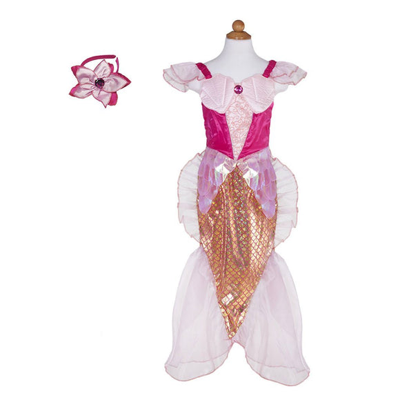 Great Pretenders Mermaid Set Dress/Headband Pink