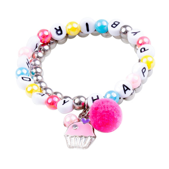 Great Pretenders 84066 Happy Birthday Bracelet 2pc