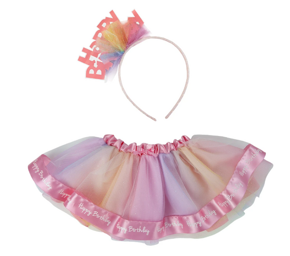 Great Pretenders 46811 Happy Birthday Tutu & Headband 12-24m