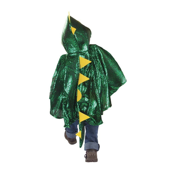 Great Pretenders Green Metallic Toddler Dragon Cape