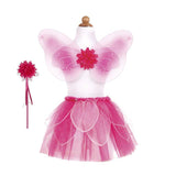 Great Pretenders 41325 Fancy Flutter Skirt Set w/Wing & Wands Pink