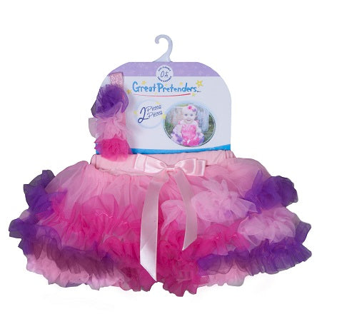 Great Pretenders 46912 Rainbow Baby Tutu & Headband 0m+