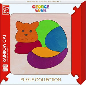 Hape George Luck Rainbow Cat Puzzle
