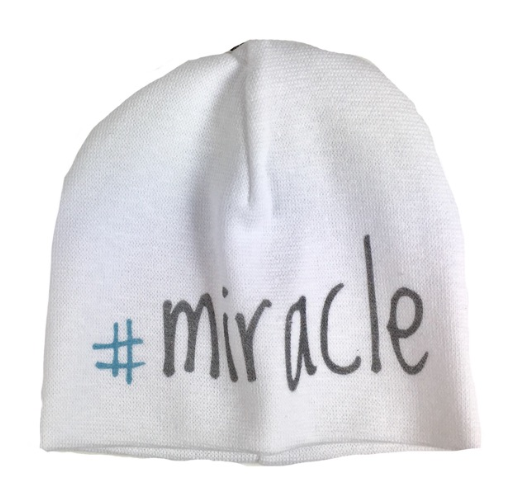 Itty Bitty Baby Hat #Miracle White/Grey