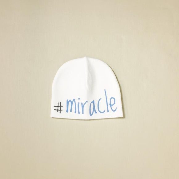 Itty Bitty Baby Hat #Miracle White/Blue