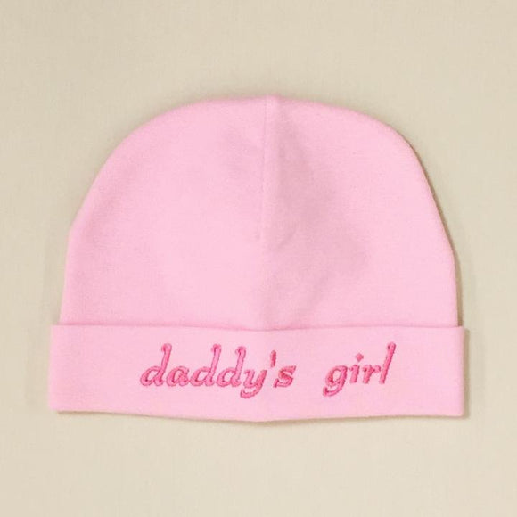 Itty Bitty Baby Hat Daddy's Girl Pink