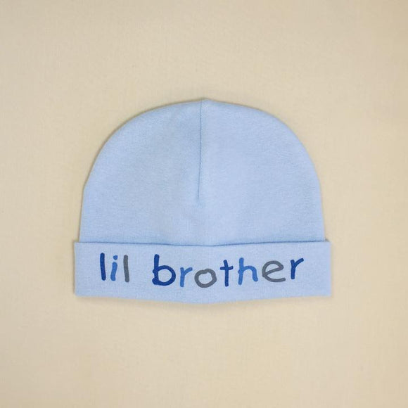 Itty Bitty Baby Hat Lil Brother Blue