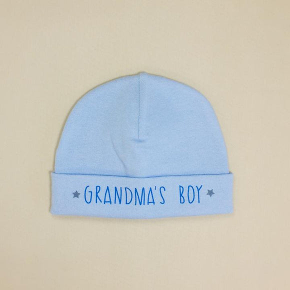 Itty Bitty Baby Hat Grandma's Boy blue