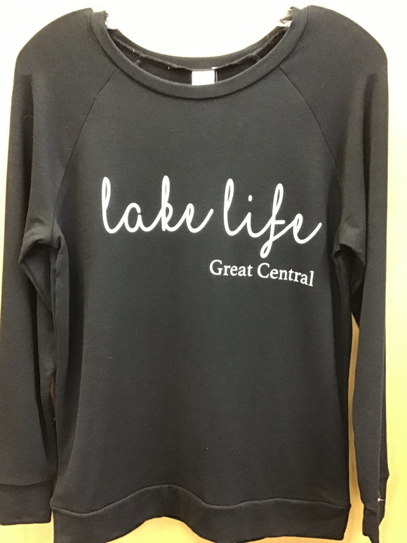 Posh & Cozy LAKELIFE, Great Central, ADULT Black Script