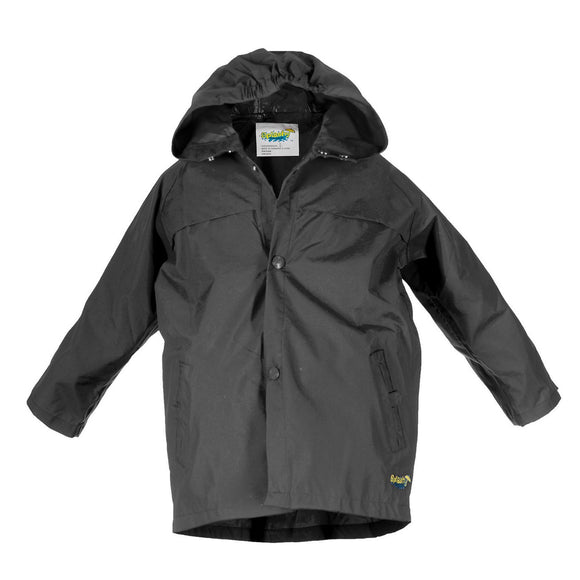 Splashy Nylon Rain Jacket Black