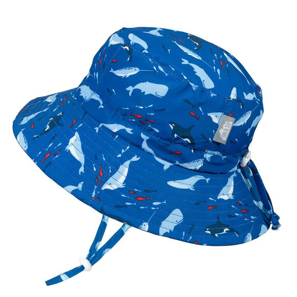 Jan & Jul Sun Hat Aqua Dry Bucket Whale Play