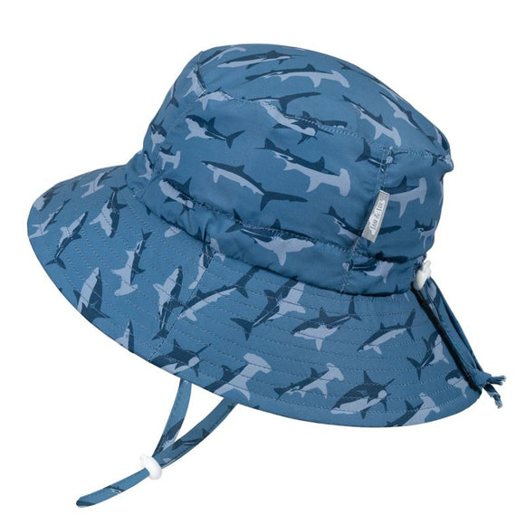 Jan & Jul Sun Hat Aqua Dry Bucket Shark